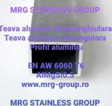 Teava aluminiu dreptunghiulara 40x30x3mm