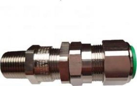 Presetupa metalica dubla strangere 1/2 NPT Exd cablu armat de la Sc Rolec Electric Industry Srl