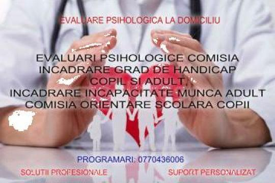 Evaluare psihologica pentru Comisia de Handicap de la Cabinet Individual De Psihologie Valentina Taranu