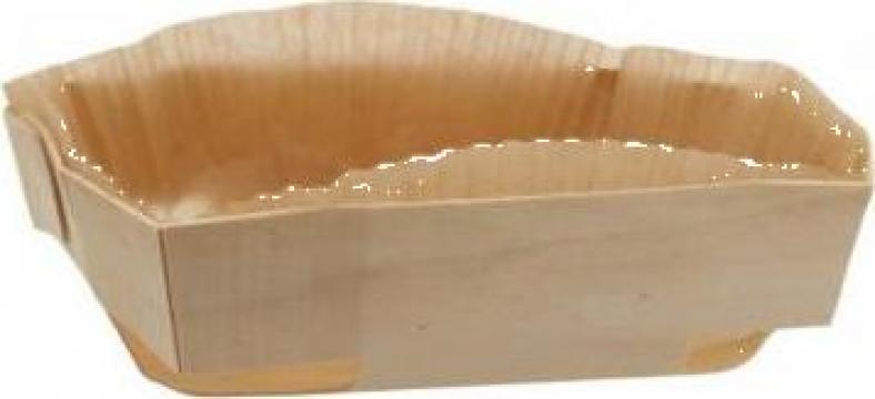 Forma din lemn pentru copt pasca 200x180x45mm 100 buc/bax de la Cristian Food Industry Srl.