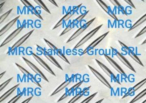 Tabla aluminiu striata Quintett 4x1000x2000mm de la MRG Stainless Group Srl