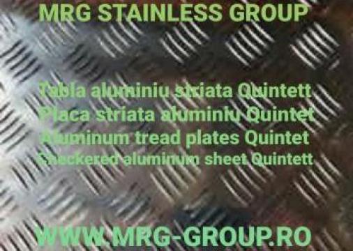 Tabla aluminiu striata Quintett 2.5x1000x2000mm
