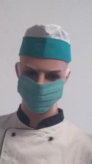 Masca chirurgicala bleu confectionata din bumbac