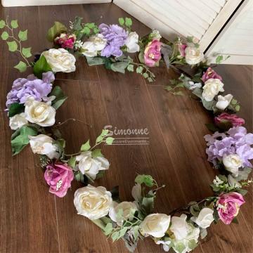 Decor cristelnita botez flori artificiale