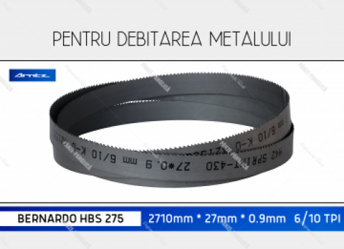 Panza 2710x27x6/10 fierastrau panglica metal Bernardo HBS275 de la Panze Panglica Srl