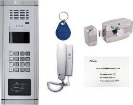 Kit economic, interfonie audio pentru scarile de bloc de la Prosystem Srl