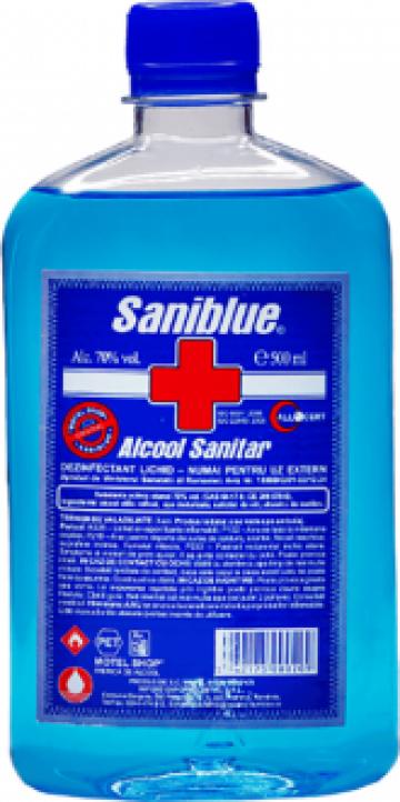 Alcool sanitar 500 ml Aviz Ministerul Sanatatii de la Natural Es Medical Srl