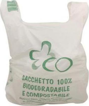 Punga mare alba 100% biodegradabila, 30x50cm, 500 buc/bax de la Cristian Food Industry Srl.