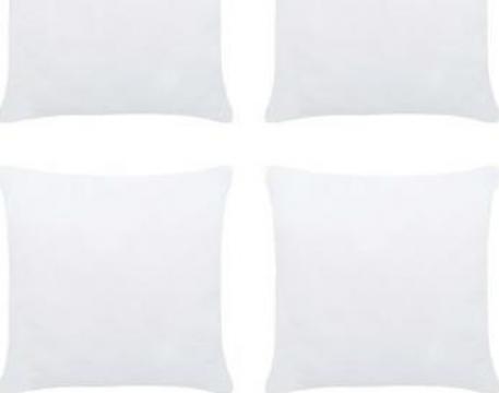 Umpluturi de perne, 4 buc., alb, 50 x 50 cm de la Vidaxl