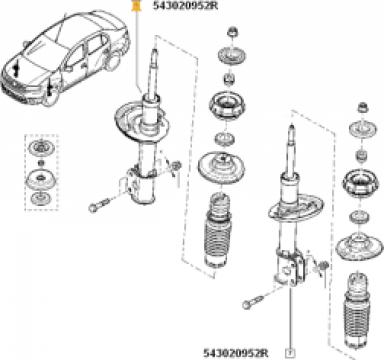 Amortizor fata Dacia Logan II 67532 de la Emcom Invest Serv Srl
