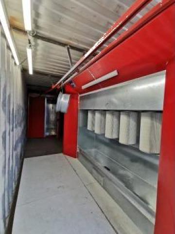 Cabina de vopsit in camp electrostatic de la Kale Metal KMD
