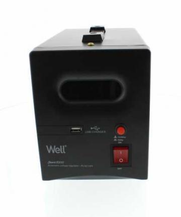 Stabilizator automat de tensiune cu releu 2000VA, negru Well