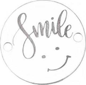 Bratara Smile, pandantiv Ag 925, snur negru