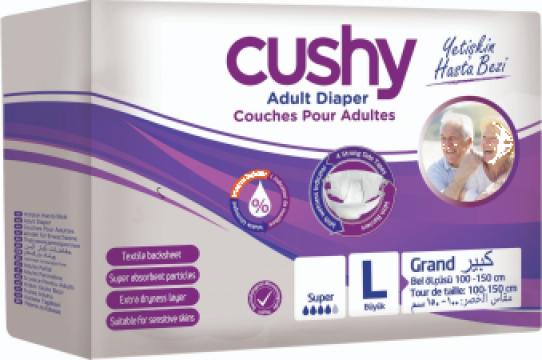 Set scutece adulti, Cushy, Marimea L-Large, 90 buc/set de la Europe One Dream Trend Srl