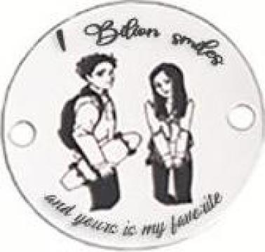 Bratara 1 Bilion Smiles And Yours Is My Favorite, pandantiv de la Artemis Srl