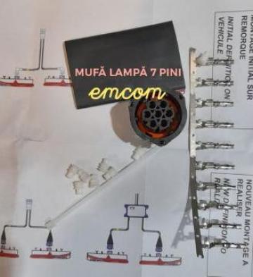 Mufa electrica 7 pini de la Emcom Invest Serv Srl