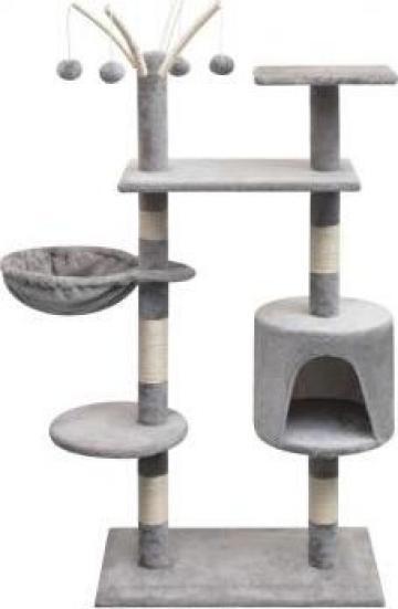 Ansamblu pentru pisici cu funie de sisal, 125 cm, gri de la Vidaxl