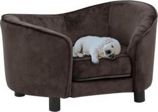 Canapea pentru caini, maro, 69 x 49 x 40 cm, plus de la Vidaxl