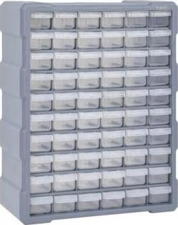 Organizator cu 60 de sertare, 38 x 16 x 47,5 cm