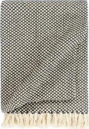 Patura decorativa, antracit, 220 x 250 cm, bumbac de la Vidaxl