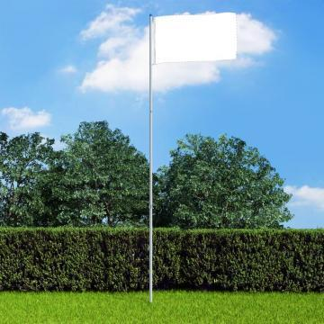 Stalp de steag telescopic, 6 m, aluminiu