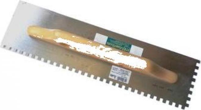 Gletiera dintata inox galvanizata 48 x 13 cm de la Maer Tools
