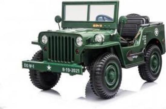 Jucarie masinuta electrica Jeep USA Army echipata Premium de la SSP Kinderauto & Beauty Srl