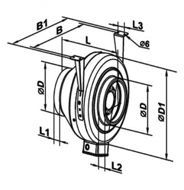 Ventilator centrifugal 160