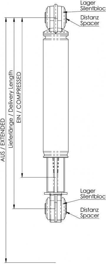 Amortizor pentru masina de spalat Zanussi 012