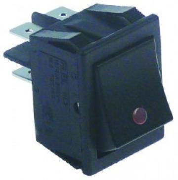 Buton rosu basculant 30x22mm, 2NO, 250V, 16A