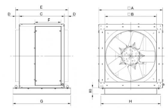 Ventilator 4 poli CHGT4-1000-9/-5,5