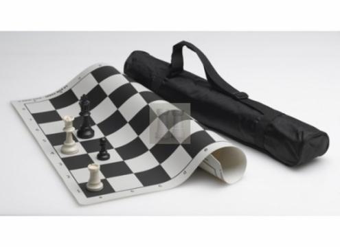 Set sah Combo: piese Staunton 6 + tabla vinil + geanta de la Chess Events Srl