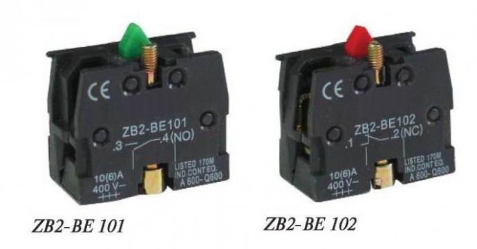 Contact NO verde ZB2-BE101 de la Kalva Solutions Srl