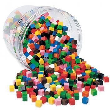 Jucarie cuburi multicolore (1cm) de la A&P Collections Online Srl-d