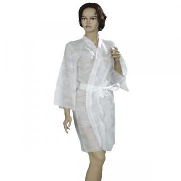 Kimono uz cosmetic, PPSB, alb sau albastru, 72x100cm (1 buc)