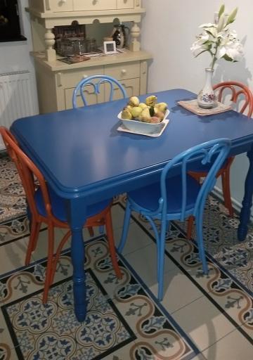 Masa Country 3 cu scaune colorate 6018 de la Mobirom