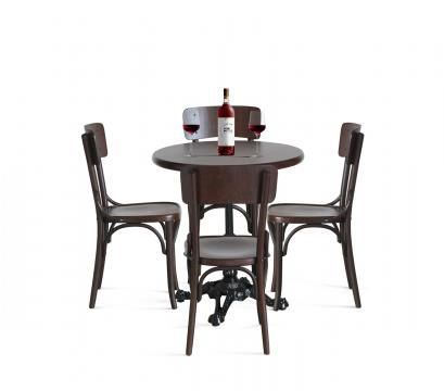 Masa cu picior metalic cu scaune Louise