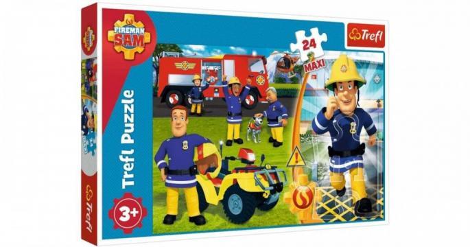 Puzzle maxi cu 24 piese Trefl Pompierul Sam