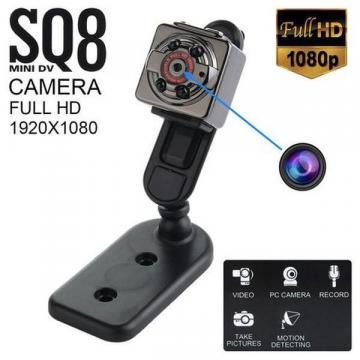 Mini camera Full HD SQ8 cu senzor de miscare si stabilizator
