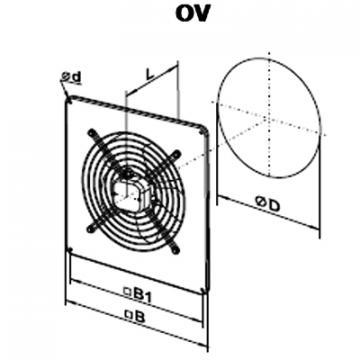 Ventilator axial OV 2E 250