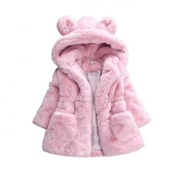 Jacheta iarna fete, geaca urechiuse, roz de la A&P Collections Online Srl-d