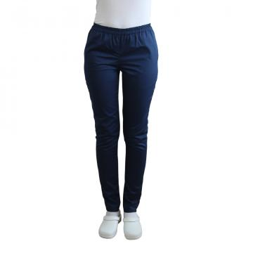 Pantaloni medicali bleumarin cu elastic si doua buzunare de la Doctor In Uniforma SRL