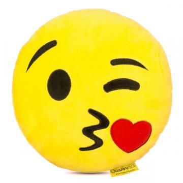 Perna decorativa Emoji Pupacios Happy Face de la Mobilab Creations Srl