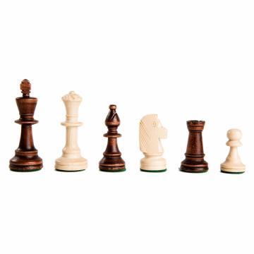 Piese sah lemn Staunton 5 in punga de plastic de la Chess Events Srl