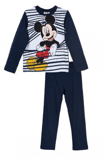 Pijama baieti, Mickey, bumbac, alb cu bleumarin de la A&P Collections Online Srl-d