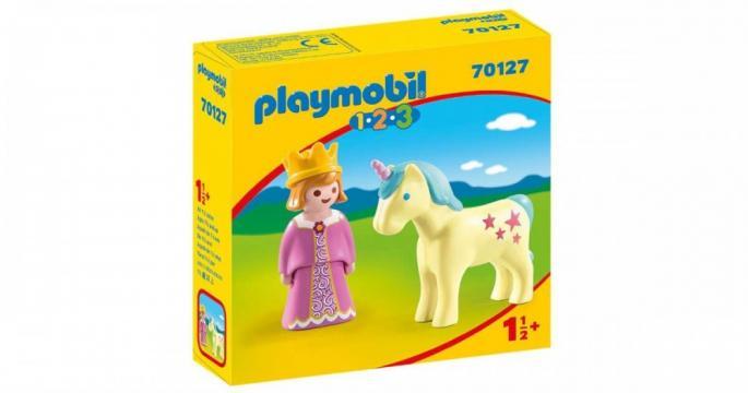 Jucarie Printesa cu unicorn 70127 Playmobil 1.2.3