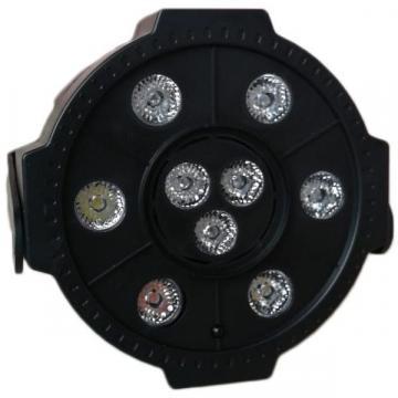 Proiector LED Par Light 9 x LED, cu Bluetooth, stick USB