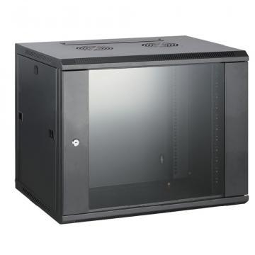 Rack cabinet de perete 15U, D:600x600x770 mm, 60 kg, negru