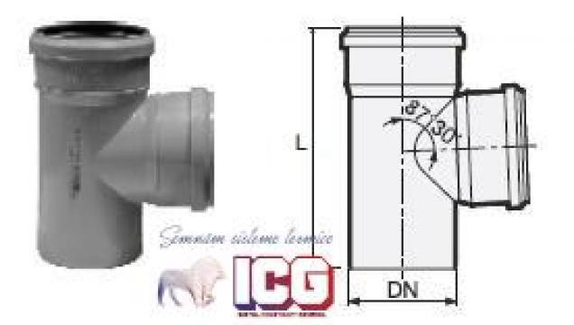 Ramificatie polipropilena pentru canalizare D.40XD.40X87 de la ICG Center