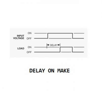 Releu intarziere la pornire (timer delay on make), 0.03-10 m de la Kalva Solutions Srl